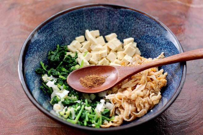 萝卜樱海鲜豆腐蒸饺怎么做