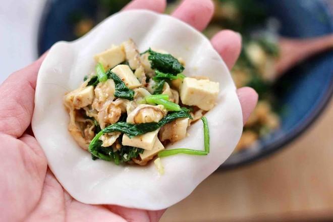 萝卜樱海鲜豆腐蒸饺怎样煸
