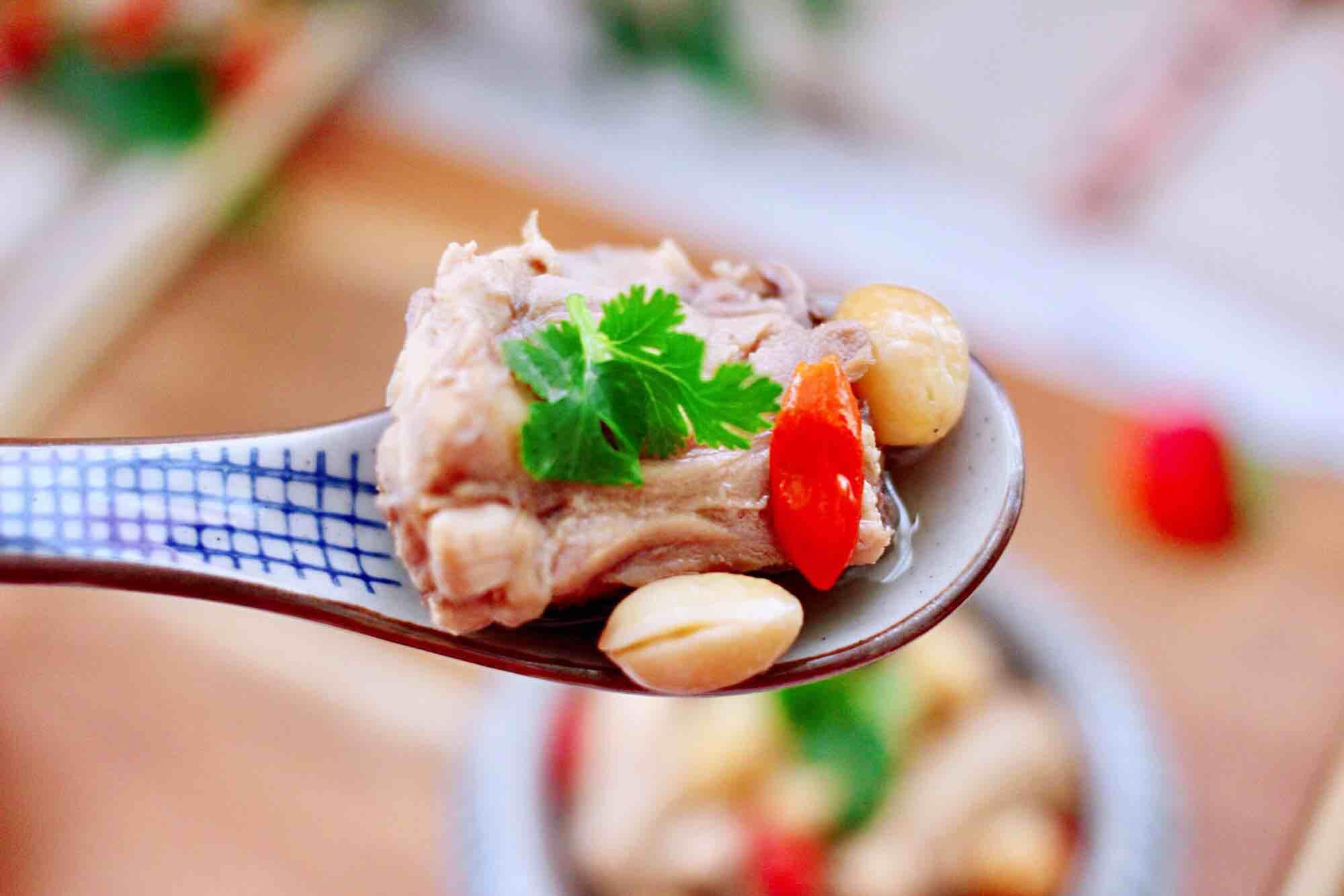 白果红枣鸡汤成品图