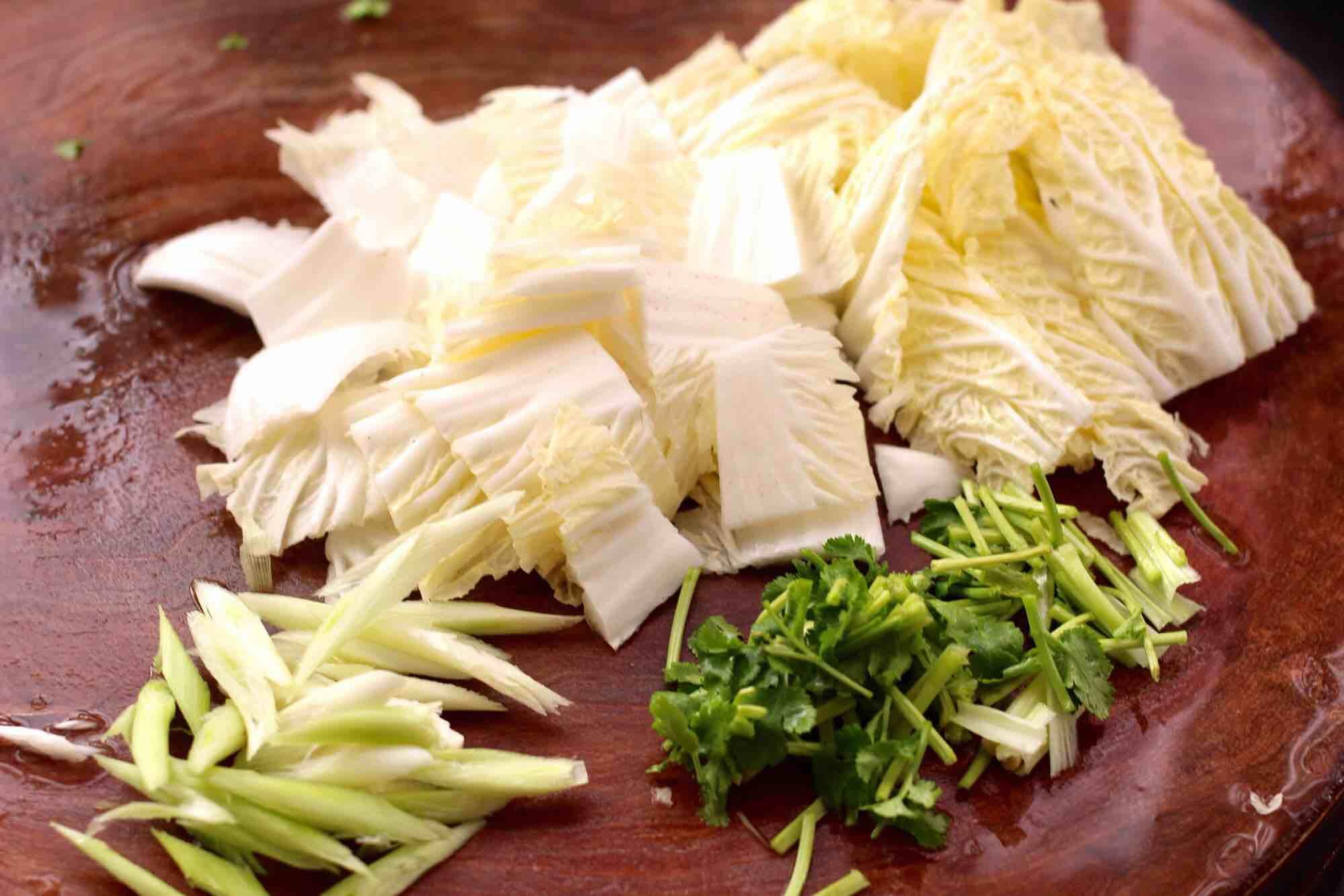 大白菜粉条炖海虹的做法图解