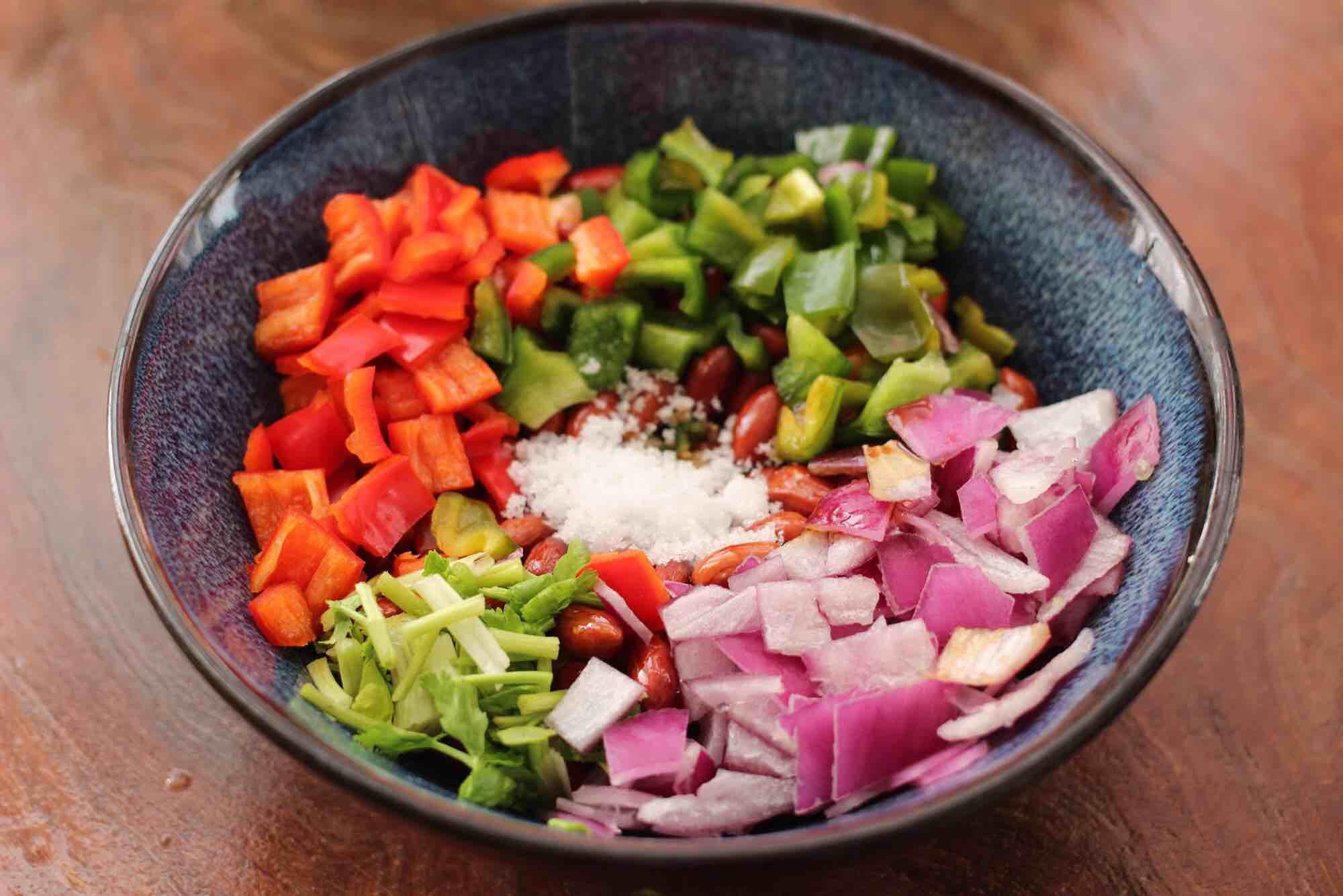 时蔬拌花生米怎样做