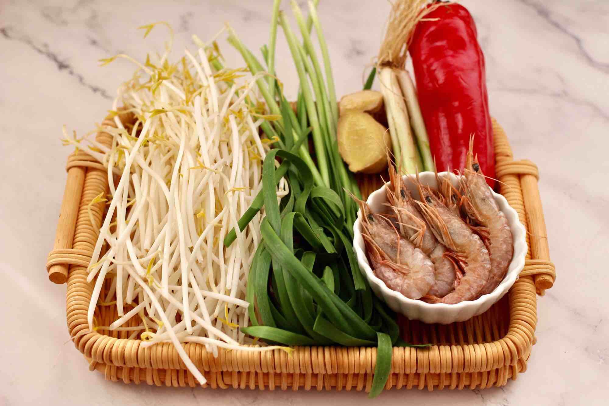 绿豆芽炒红虾的做法大全