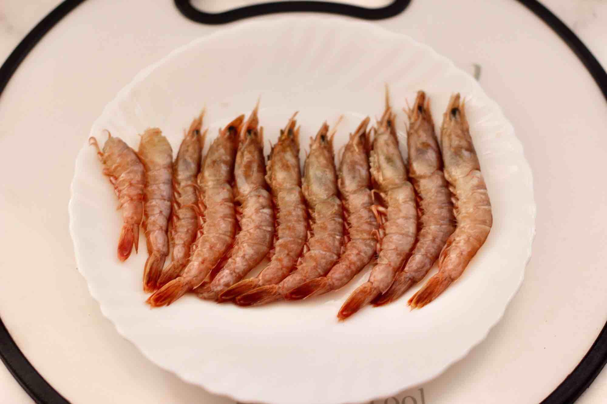 绿豆芽炒红虾的做法图解