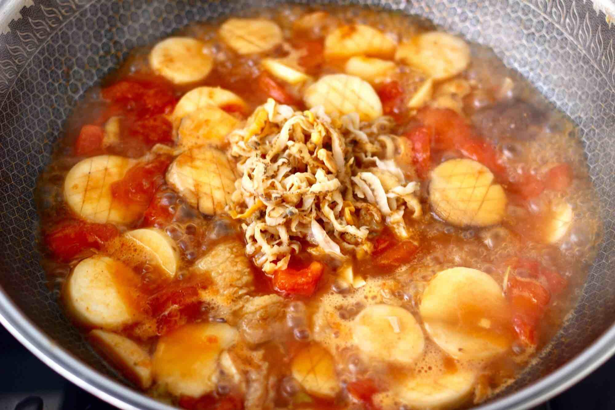 杏鲍菇扇贝花肉煲怎样做