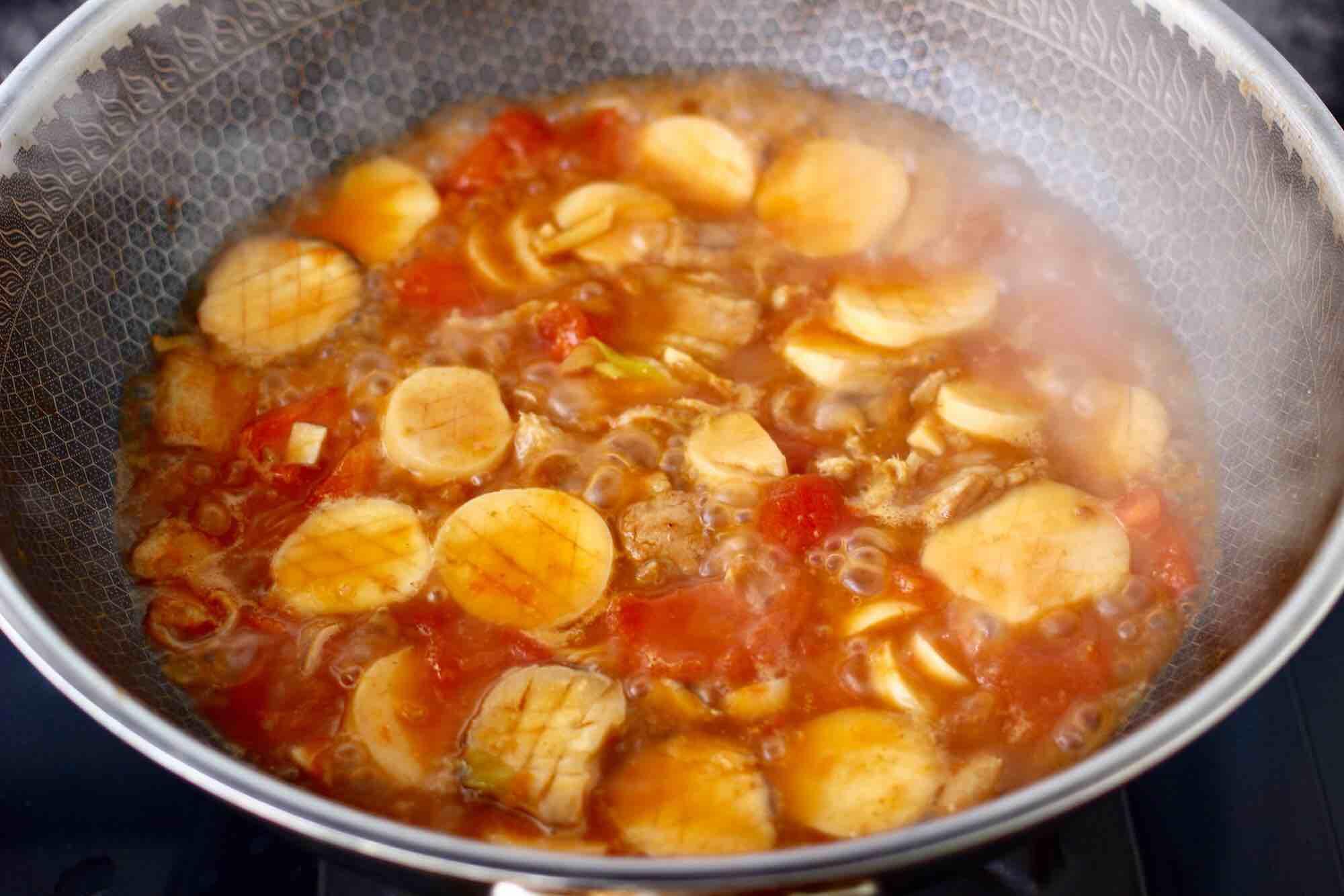 杏鲍菇扇贝花肉煲怎样煮