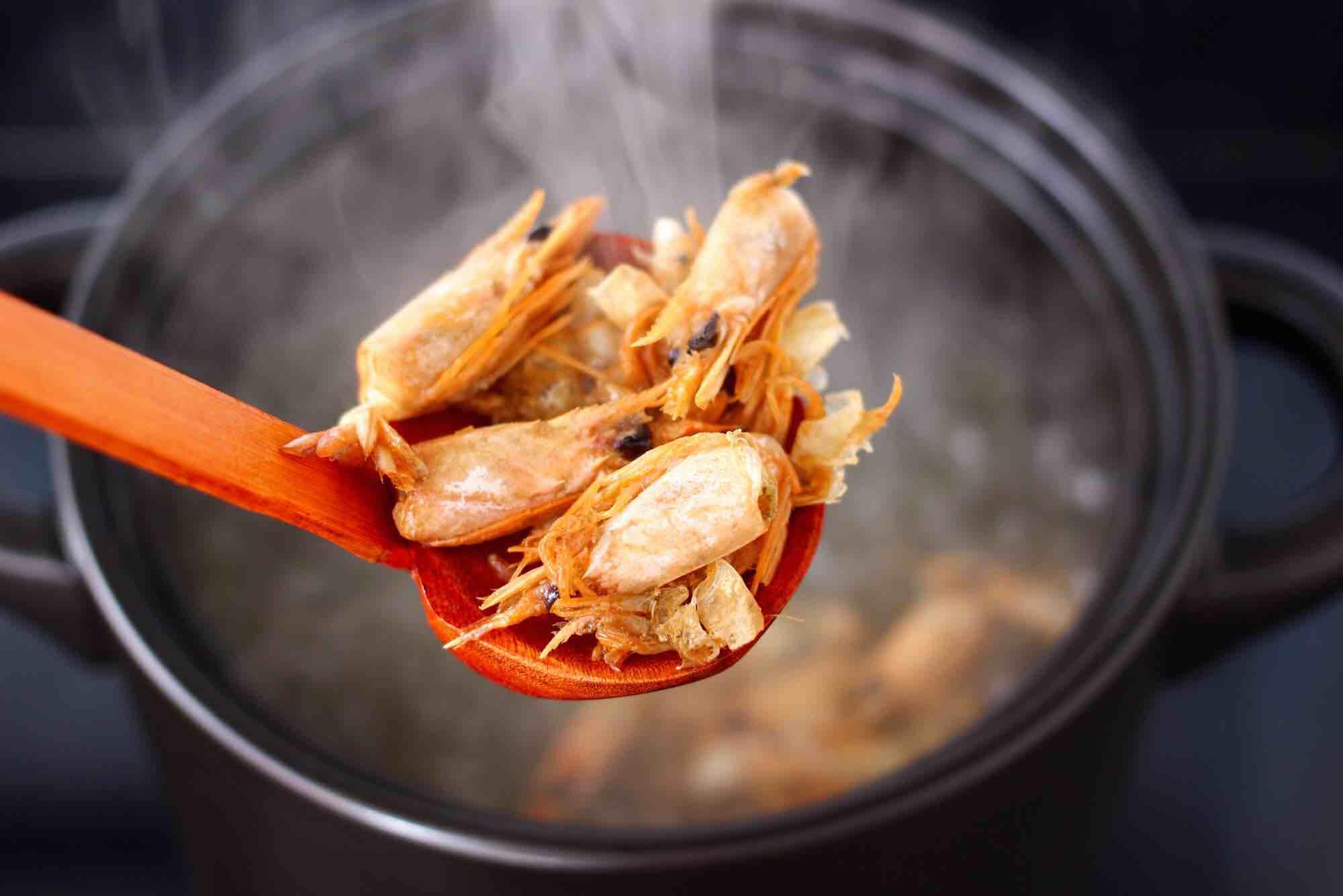 鲜虾海参砂锅粥怎么炒