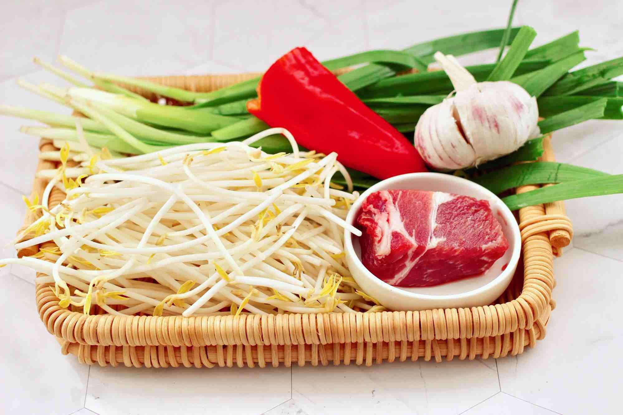 肉丝炒韭菜豆芽的做法大全