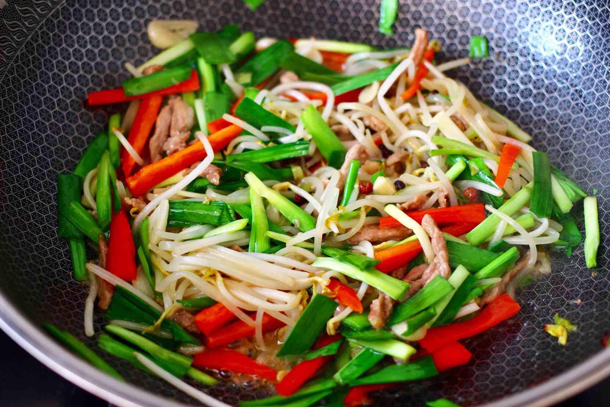 肉丝炒韭菜豆芽怎样煮