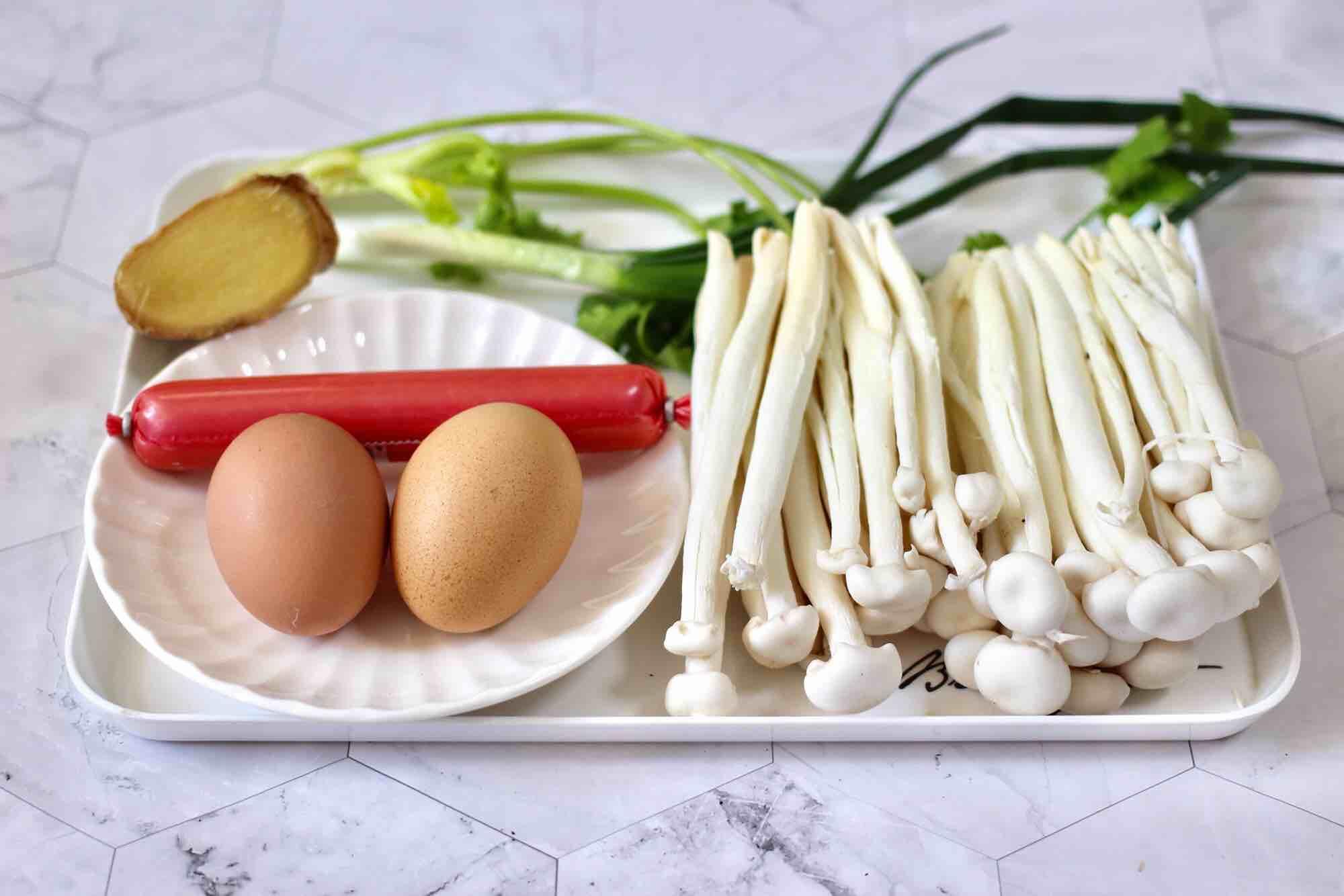 海鲜菇鸡蛋汤的做法大全