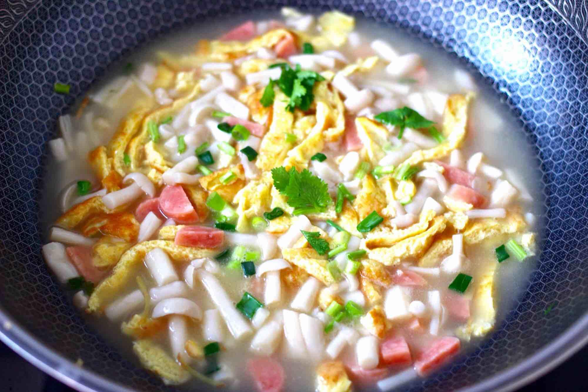 海鲜菇鸡蛋汤的制作方法