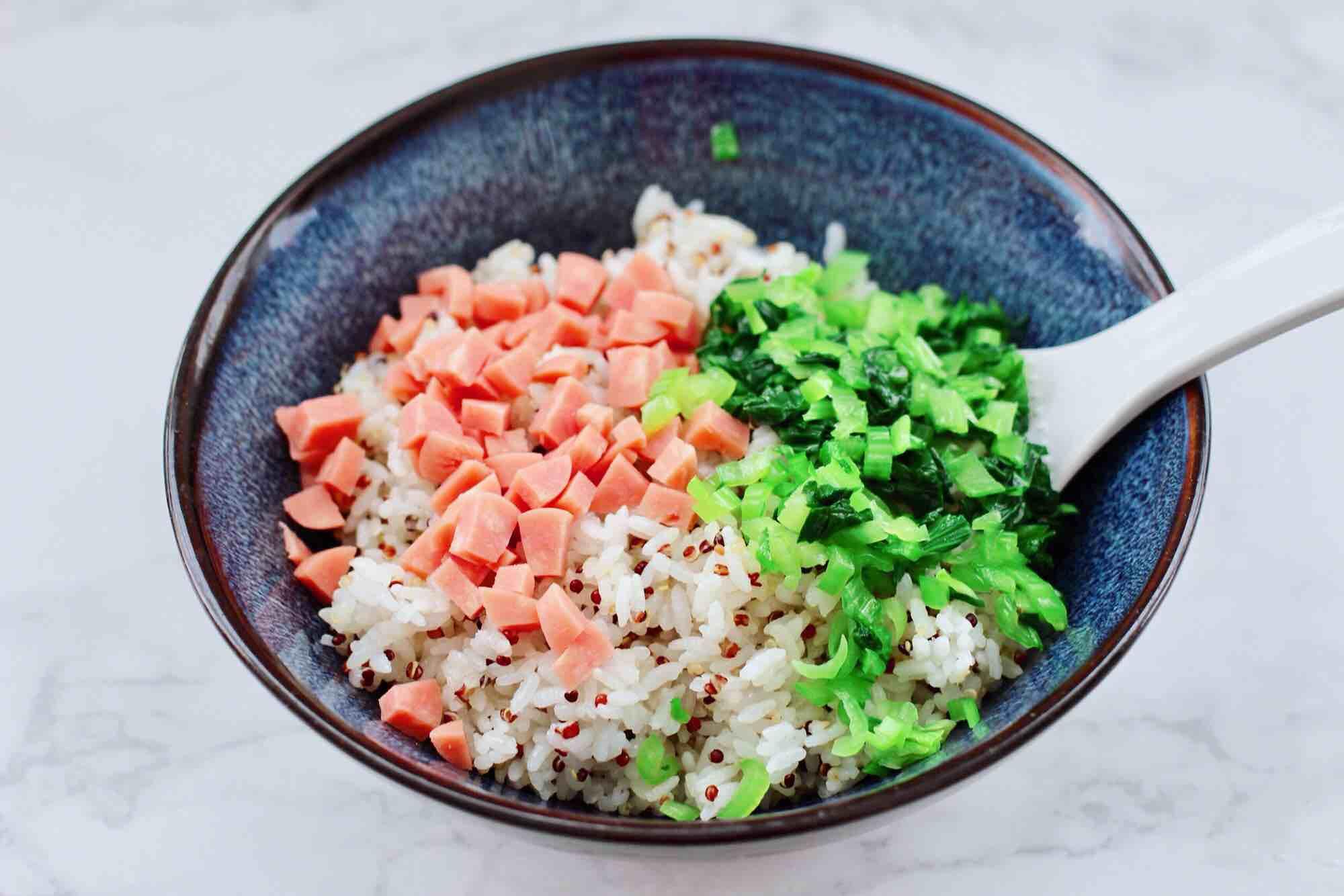 三色藜麦青菜饭团怎么煸