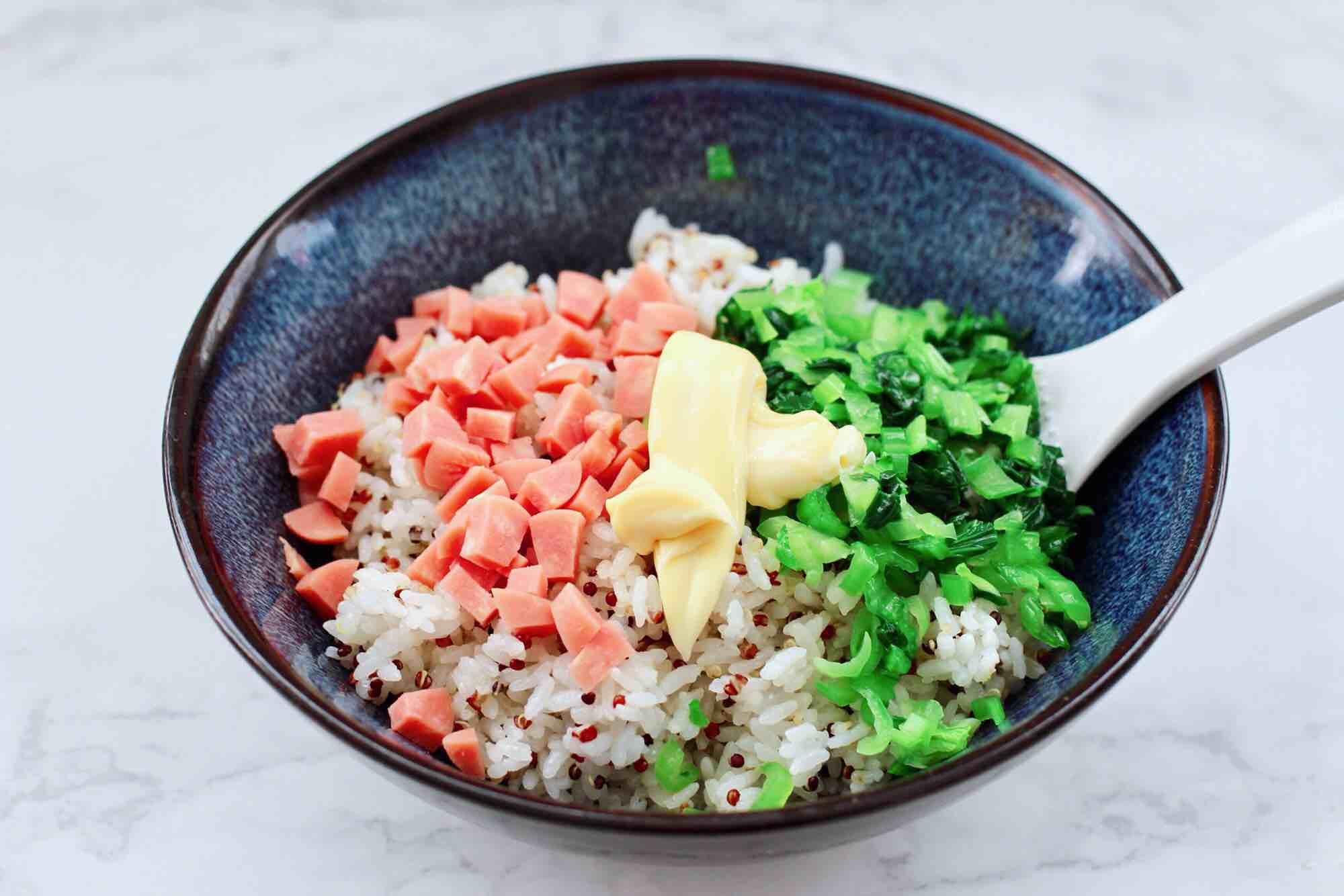 三色藜麦青菜饭团怎样煸