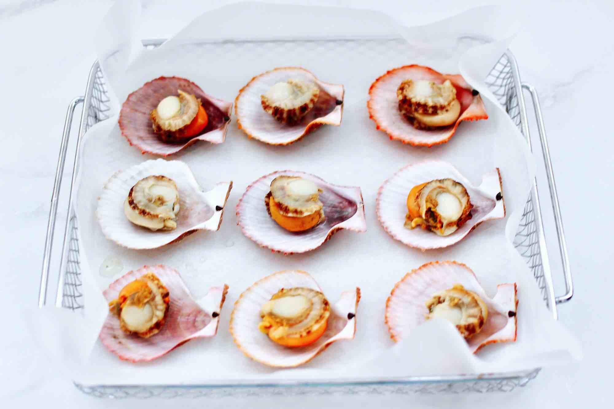 蒜蓉剁椒烤扇贝怎么吃