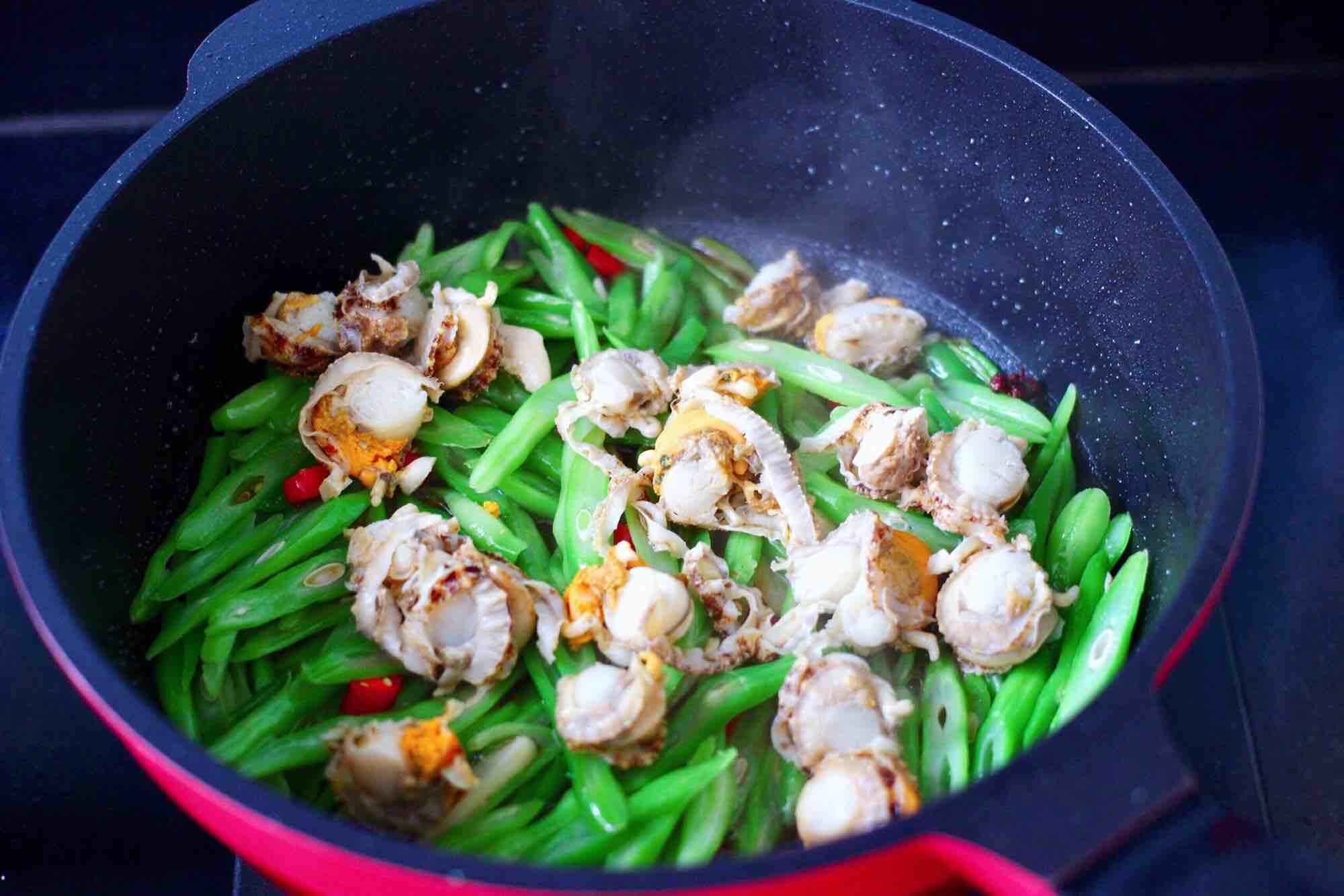 四季豆炒扇贝肉怎样煮