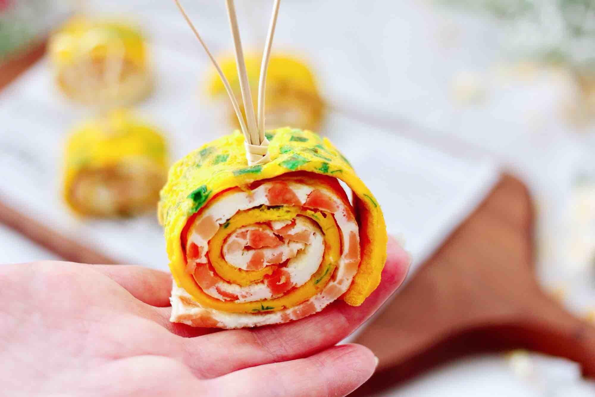 日式火腿鸡蛋卷成品图
