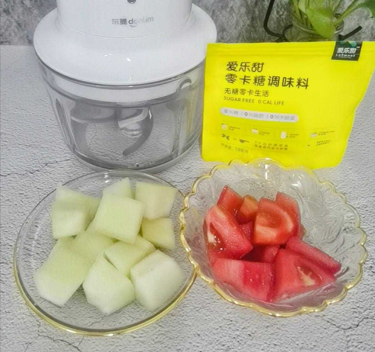 蜜瓜西红柿汁的做法大全