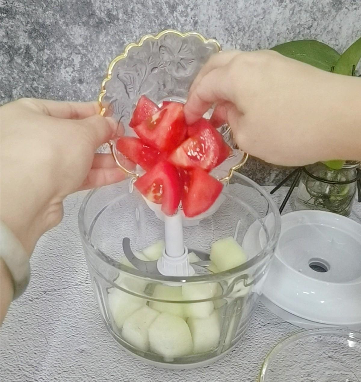 蜜瓜西红柿汁的家常做法