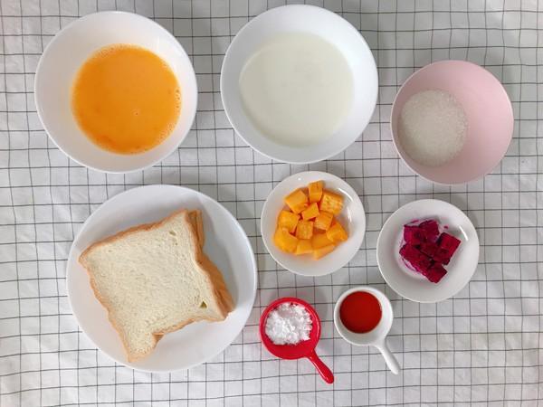 创意面包水果布丁杯的步骤