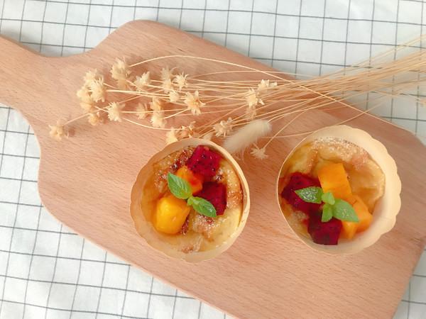 创意面包水果布丁杯成品图