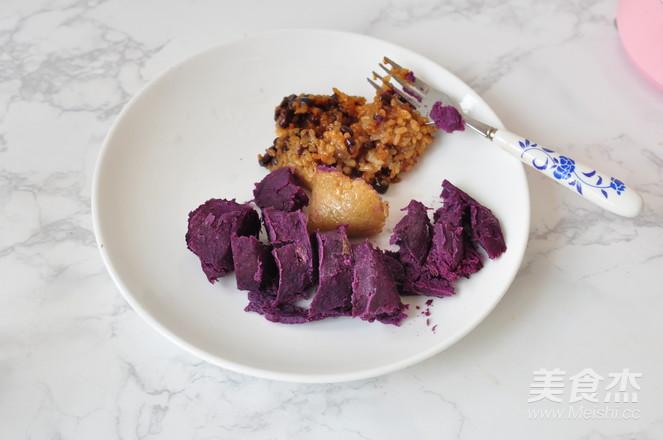 紫薯米粽糊的家常做法