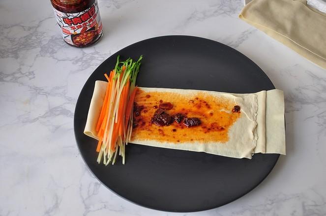 豆皮酱菜卷怎么做