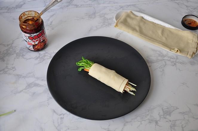 豆皮酱菜卷怎么炒