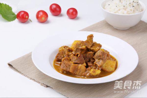 咖喱牛肉成品图