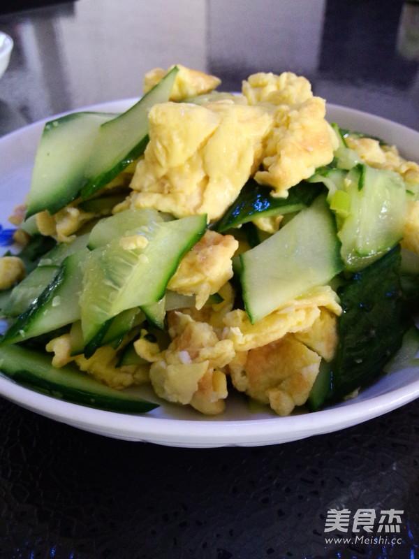 黄瓜炒鸡蛋成品图