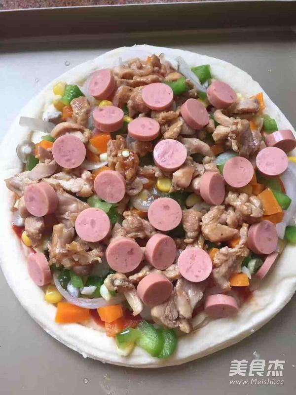 无烟厨房&火腿蔬菜披萨的家常做法
