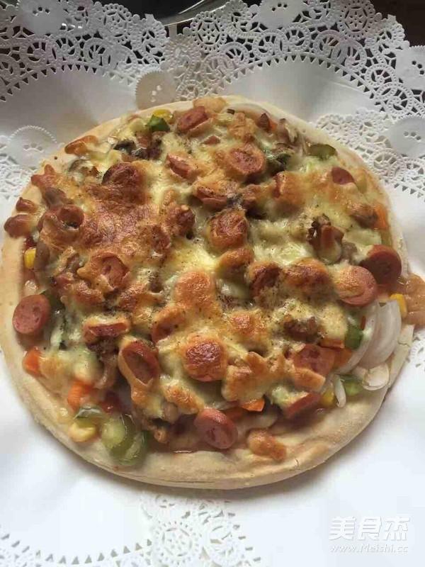 无烟厨房&火腿蔬菜披萨怎么吃