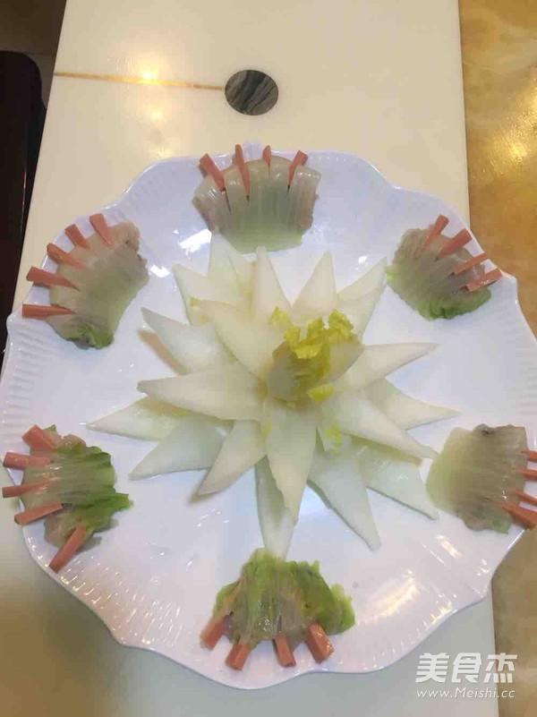 白菜莲花的制作