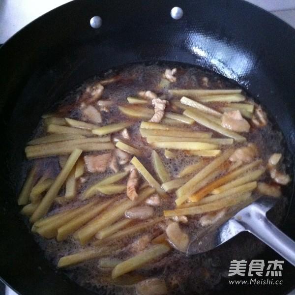红烧土豆条怎么炒