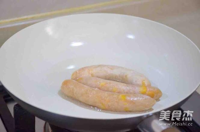鸡肉玉米肠怎样煸