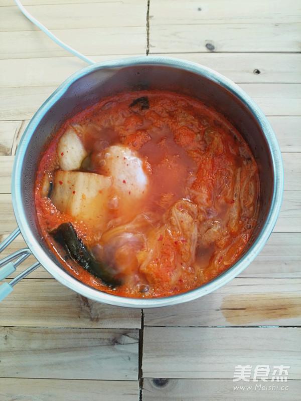 韩式芝士年糕部队锅怎么吃