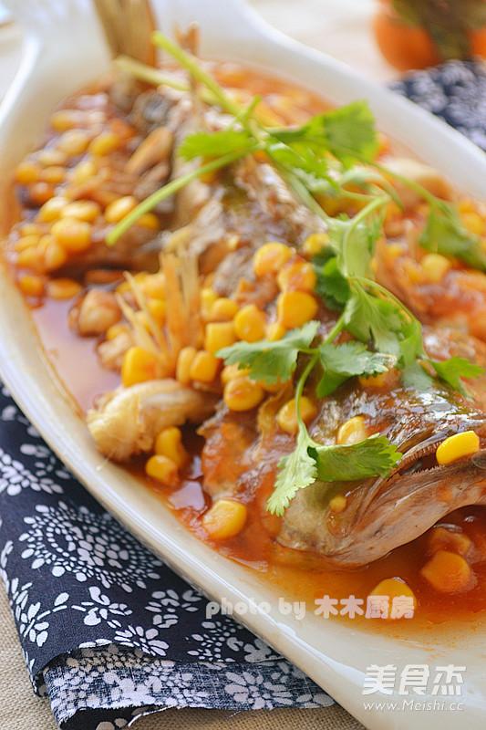 微波茄汁鱼成品图