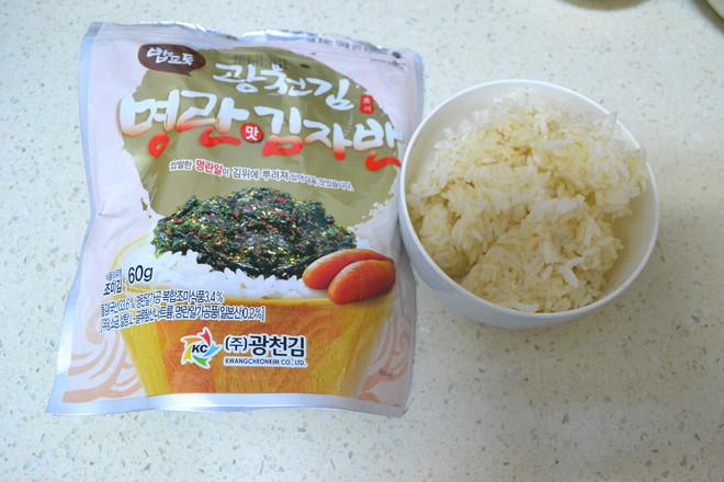 明太鱼籽胚芽米饭团的家常做法