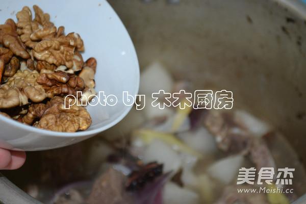 核桃白萝卜炖羊排怎么炒