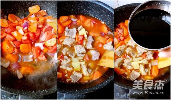 红酒番茄炖牛腩的简单做法