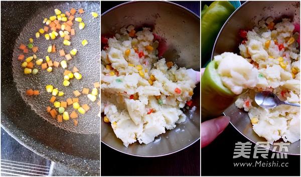 虎皮尖椒酿土豆泥的做法图解
