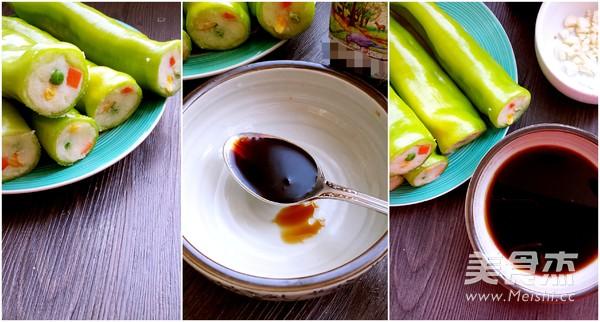 虎皮尖椒酿土豆泥的家常做法