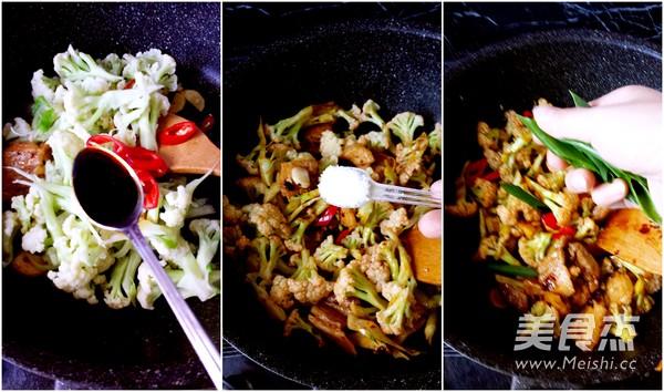 干锅有机花菜的家常做法
