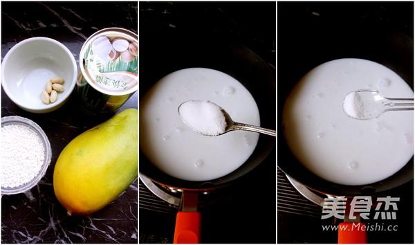 椰香芒果糯米饭的步骤