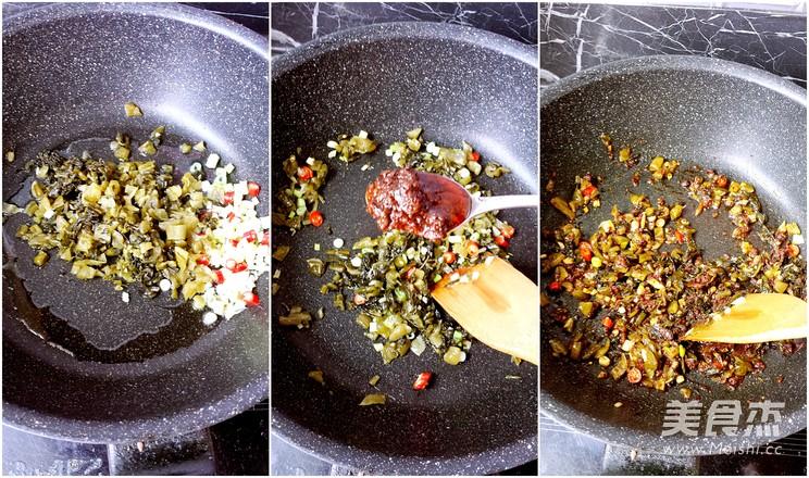 酸菜牛肉酱拌面的做法图解