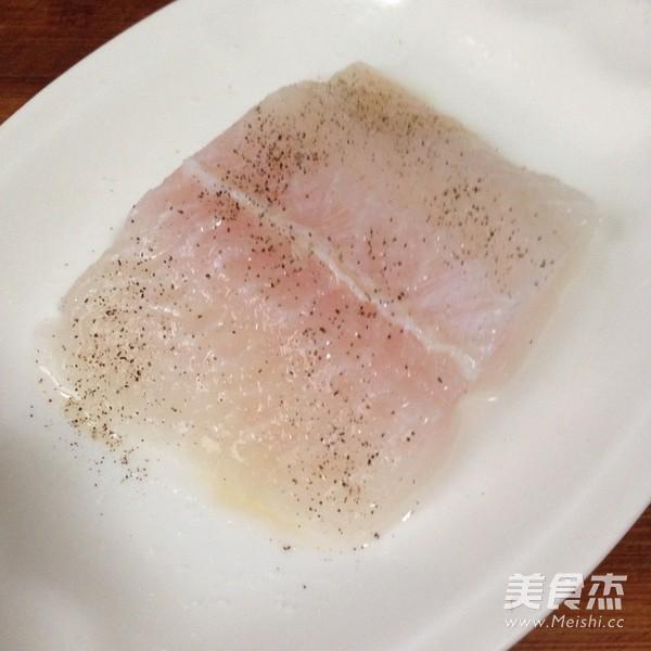 黑胡椒龙利鱼配时蔬的做法图解