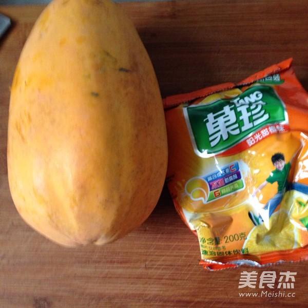 橙汁木瓜的做法大全