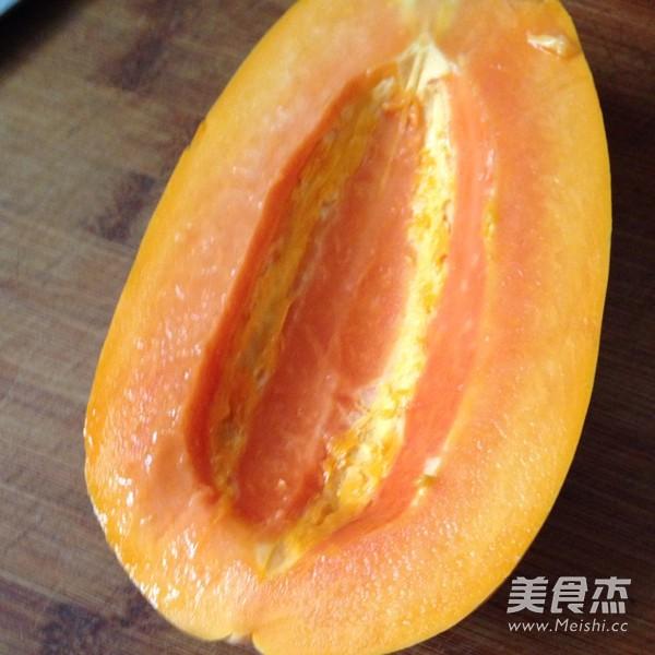 橙汁木瓜的做法图解