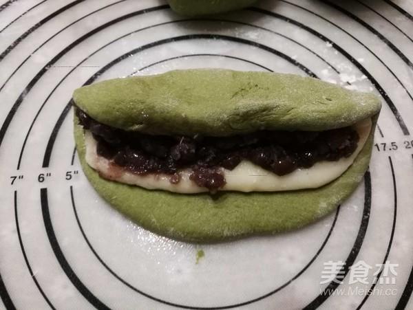 抹茶红豆麻薯软欧怎样做