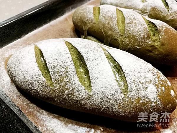 抹茶红豆麻薯软欧的制作方法