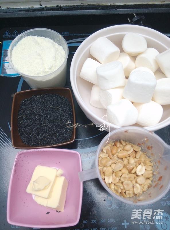 面包机黑芝麻牛轧糖的家常做法