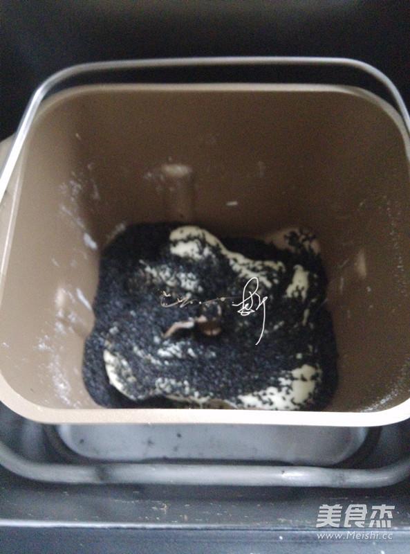 面包机黑芝麻牛轧糖怎么做
